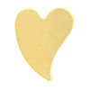 Brass Stamping Blank, Curved Heart, 9.25mm x 11.6mm