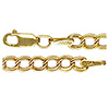 Gold Fill Parallel Links Charm Bracelet 7.25 Ins