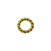 Vermeil Bali Style Twisted Spacer, 6mm Per Piece