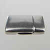 Magnetic Clasp 22x14mm, Antique Silver for 2mm Flat Leather
