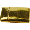 Magnetic Clasp 22x14mm, Gold Plate for 2mm Flat Leather