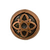 Celtic Motif Antique Copper Plated Pewter Bead, 12mm