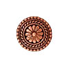TierraCast Button, Bali Design, 18mm, Antiqued Copper Plated Pewter