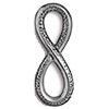 TierraCast Infinity Loop Link Antiqued Pewter