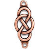 TierraCast Infinity & Circle Loop Link Antiqued Copper Plated Pewter
