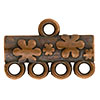 Floral Pattern 4-1 Pewter Link, Copper Plated, Antique Finish