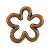 Open Flower Shaped Copper Plated Pewter Link, 15mm