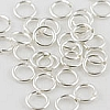 Silver Filled Locking Jump Ring, 20 ga, 4mm