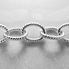 8X10mm Sterling Silver Twisted Italian Cable Chain - Per Foot