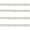 1.7mm Italian Sterling Silver Baby Rolo Chain Diamond Cut, Per Foot