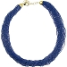 SeedBead Necklace 30 Luxury Strands, 18 Inches Denim Blue