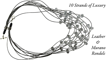 Free Design for 10 Strand Necklace featuring our Murano Glass Rondels
