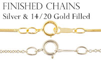 Shop Finished Jewelry Chains in Sterling Silver and Gold Filled