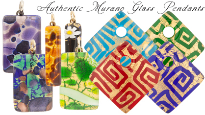 New Exclusively at Venetian Bead Shop Great Quality Fused Murano Glass Pendants