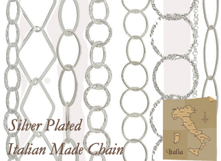 Italian Made Silver Plated Chain