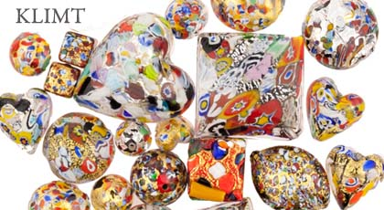 Take a look at these beautiful Murano Glass Beads KLIMT