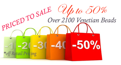 Save up to 50% on 2000+ Venetian Beads