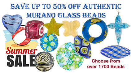 Save up to 50% Off Retail on these Authentic Murano Glass Beads