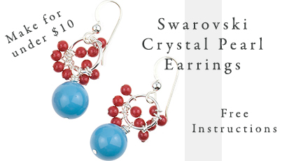 Make these Swarovski Crystal Pearl Earrings - Easy, Inexpensive