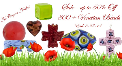 Save up to 50% on hundreds of authentic Murano Glass Beads
