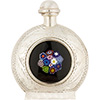 .925 Sterling Silver Bottle, Screw Top Black Bouquet Millefiori