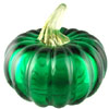 Mouthblown Emerald Glass Pumpkin, Authentic Murano Glass