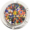 Murano Glass Purse Holder, Gold Foil Multi Colors, Millefiori