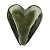 Beveled Murano Glass Heart 26mm Caramella Steel Gray