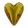 Beveled Murano Glass Heart 26mm Caramella Light Topaz