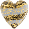 Murano Glass Beads Blue Ca'd'oro Flat Focal Hearts Striped