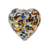 Cluseau Heart Multi 20mm .925 Silver Foil Murano Glass Bead
