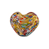 Klimt Double Heart 20MM Gold Foil Multi, Murano Glass Bead