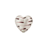 Crystal/Chocolate Silver LaCrima Silver Foil Hearts12mm, Murano Glass Bead