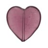 Murano Glass Bead Heart 25mm Flat Transparent Amethyst