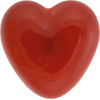 Poppy Red Caramella Heart Cabochon 31mm, Venetian Glass Bead