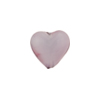 Lavender Purple Caramella Heart 13mm, Venetian Glass Bead