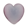 Lilac Lustre Caramella Heart 25mm, Venetian Glass Bead
