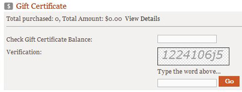 Check the Balance of a Gift Certificate Anytime