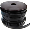 Black Flat Licorice Leather Cord, 10x2mm, Per Inch