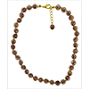 Light Amethyst Aventurina  Necklace 16 Inches w/ 2 Inch Extender, Gold Tone Clasp Authentic Murano Glass Beaded