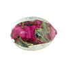 Murano Glass Bead, Base Rubino Pink with Aventurina and Calcedonia Oval 22x15