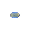 Gold Foil Oval 11mm x 5mm Blue