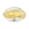 Clear & 24kt Gold Foil Oval Twist 26mm, Murano Glass Bead