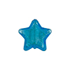 Venetian Glass Bead Star Silver Foil 16mm Aqua