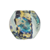Venetian Bead Dichroic Sparkles Pebble, Aquamarine Gold 20mm