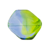 Green and Blue Sasso 23x20mm, Bicolor Murano Glass Bead