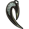 Boro Dichroic Pendant Hook Silver and Black