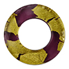 Murano Glass 24kt Gold Fused Circle 29mm - Links, Ca'd'oro Amethyst