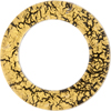 Murano Glass 24kt Gold Fused Circle 50mm - Links, Black