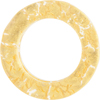 Murano Glass Gold Fused Circle 50mm - Links, Gold Foil